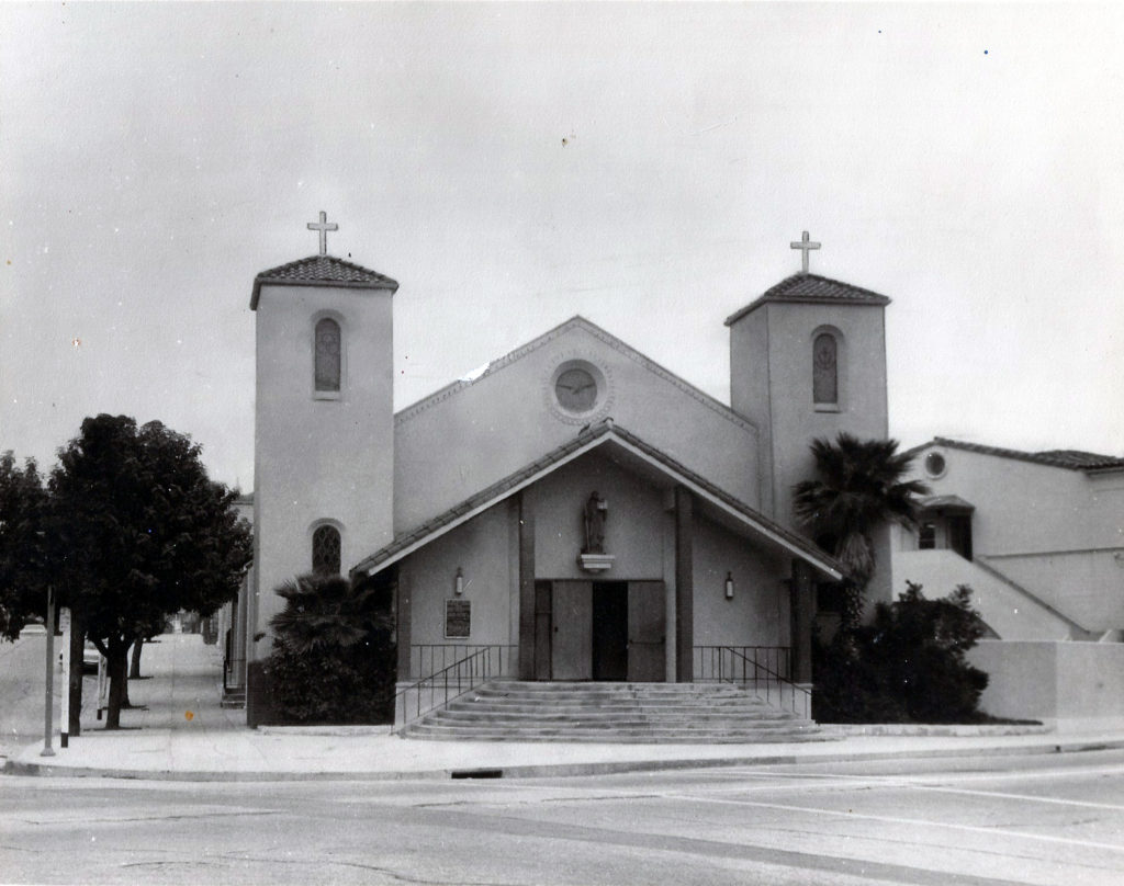 St. Bernard Church, as it appeared circa 1924.