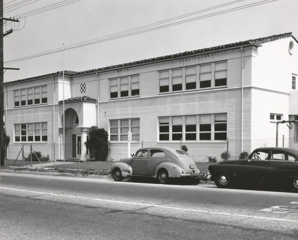 St. Bernard Catholic School as it appeared around the 1950s.