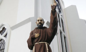 This week, we celebrate the Memorial of St. Pius of Pietrelcina, priest (Padre Pio). (Pictured: Saint Pio of Pietrecina, San Sebastian Cathedral of Tarlac, Philippines. Photograph by Ramon FVelasquez.)
